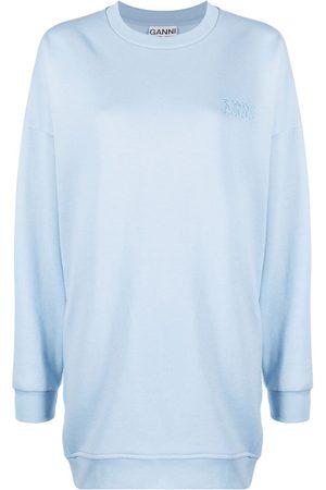 Ganni Software Isoli logo-embroidered sweatshirt