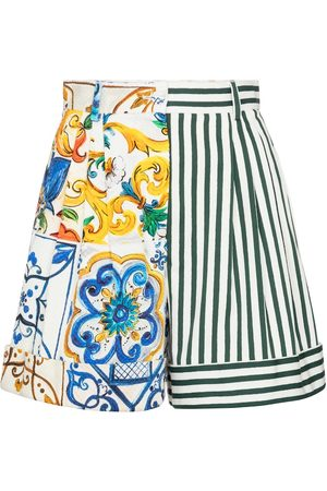 Dolce & Gabbana Patchworked cotton shorts