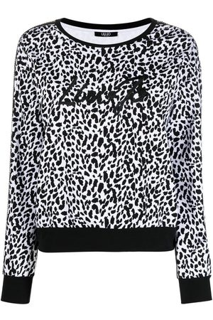 Liu Jo Embroidered leopard-print sweatshirt