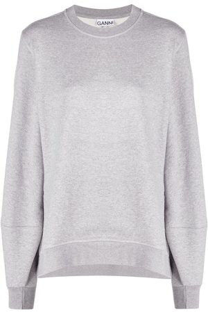 Ganni Rear embroidered logo sweatshirt - Grey