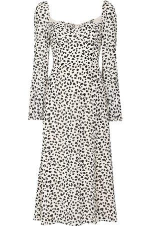 Reformation Dalmatian print midi dress