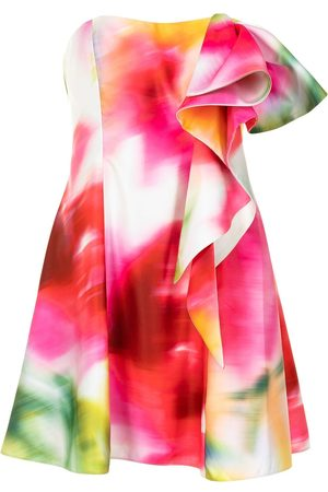 Marchesa Notte Abstract print cocktail dress - Multicolour