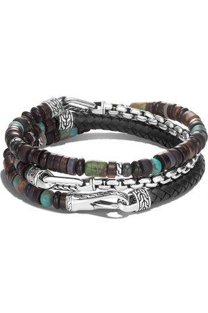 John Hardy Classic Chain silver beads triple wrap bracelet