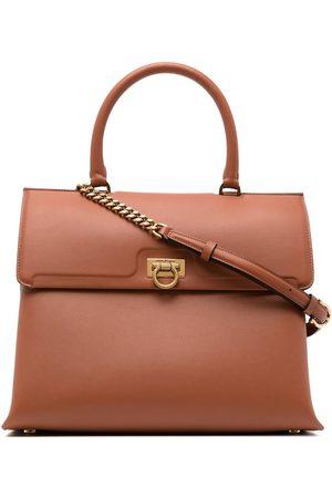 Salvatore Ferragamo Polished leather shoulder bag