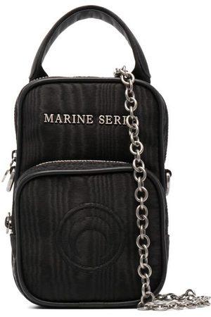 Marine Serre Women Shoulder Bags - Lettering logo crossbody bag
