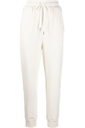 12 STOREEZ Women Tracksuits - High-waisted drawstring trackpants - Neutrals