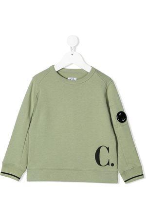 C.P. Company Boys Hoodies - Logo-print long-sleeve sweatshirt