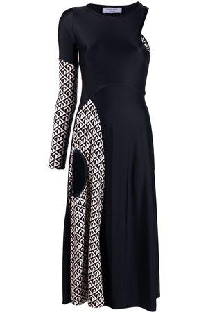 Marine Serre Women Dresses - Patchwork cut-out dress