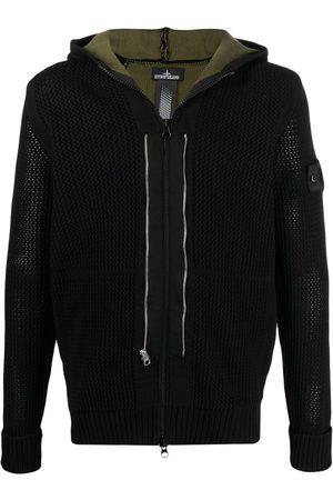 STONE ISLAND SHADOW PROJECT Men Hoodies - Logo-patch zip-up hoodie