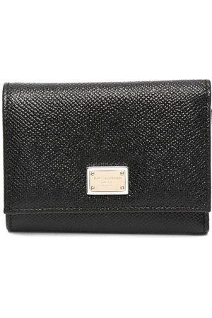 Dolce & Gabbana Women Wallets - Logo plaque tri-fold wallet