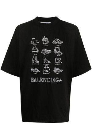 Balenciaga Printed oversized T-shirt