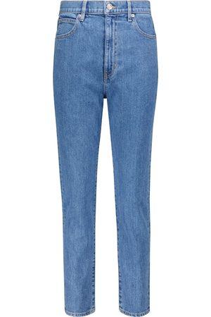 SLVRLAKE Women High Waisted - Beatnik high-rise cropped slim jeans