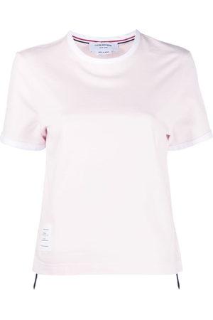 Thom Browne Women Short Sleeve - SHORT SLEEVE RINGER TEE IN MEDIUM WEIGHT JERSEY 40/2 - 680 LT