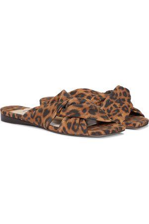 Jimmy Choo Narisa leopard-print suede sldies
