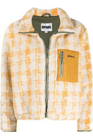 Apparis Kayla houndstooth-pattern bomber jacket - Neutrals