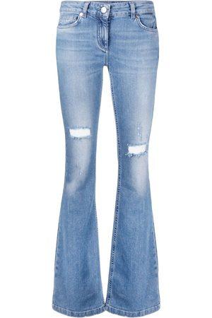 BLUMARINE Distressed flared jeans