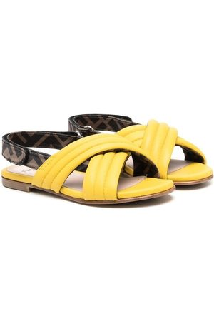 Fendi FF-print ribbed sandals