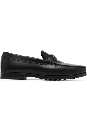 Tod's T-logo pebbled loafers
