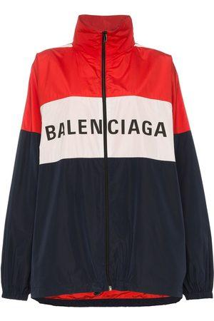 Balenciaga Logo colourblock windbreaker