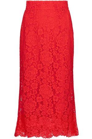 Dolce & Gabbana Women Midi Skirts - Lace midi skirt
