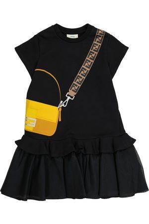 Fendi Printed cotton jersey dress