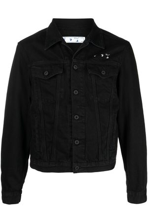 OFF-WHITE Men Denim Jackets - Arrows-print denim jacket