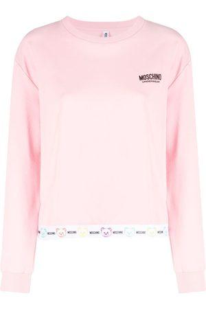 Moschino Logo-print long-sleeve jumper