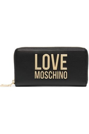 Love Moschino Grained faux-leather logo wallet
