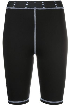 McQ Women Shorts - Logo-patch cycling shorts