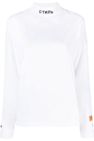 Heron Preston Women Long Sleeve - High-neck long-sleeve T-shirt