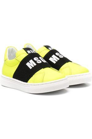 Msgm Girls Sneakers - Low-top logo-print sneakers