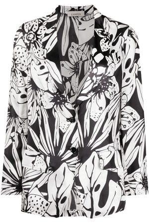 LANEUS Floral-print blazer
