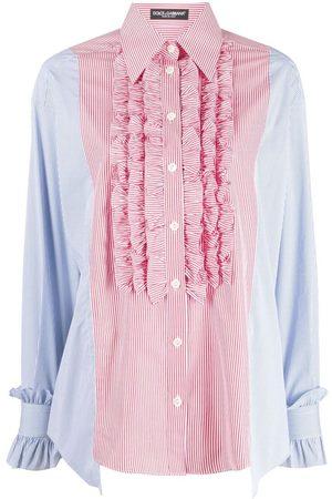 Dolce & Gabbana Ruffled two-tone shirt