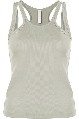 DION LEE Women Tank Tops - Teardrop ribbed tank top