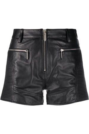 Roberto Cavalli Mid-rise zip-front shorts