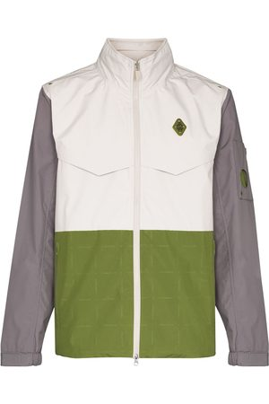 A-cold-wall* Logo-plaque panelled jacket - Neutrals