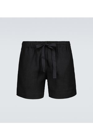 COMMAS Relaxed-fit linen and cotton shorts
