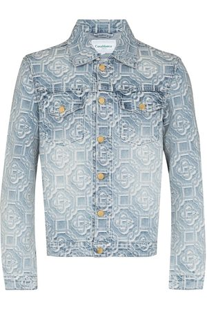 Casablanca Men Denim Jackets - Logo-jacquard denim jacket