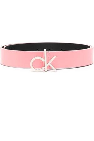 Calvin Klein Women Belts - CK logo buckle 30mm leather belt