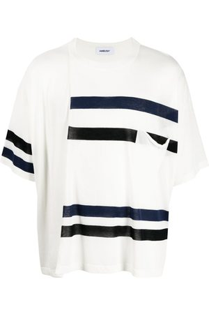 AMBUSH Striped cotton T-shirt