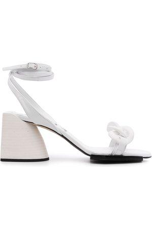Nº21 Chain strap mid-heel sandals