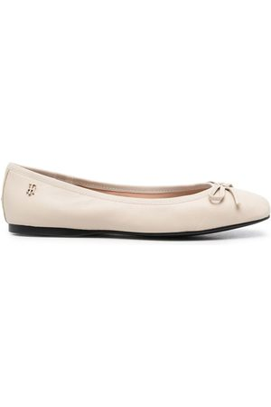 Tommy Hilfiger Essential ballerina leather shoes - Neutrals
