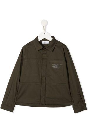 Paolo Pecora Logo patch shirt jacket