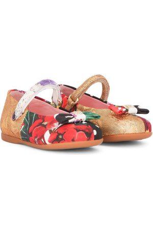 Dolce & Gabbana Patchwork bow-detail ballerina shoes