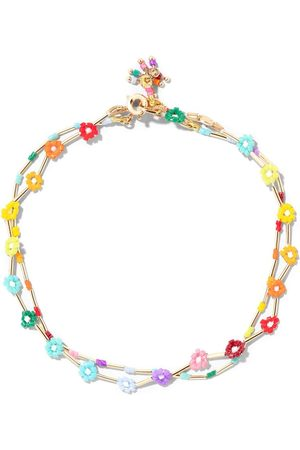 Roxanne Assoulin Flower patch anklet duo