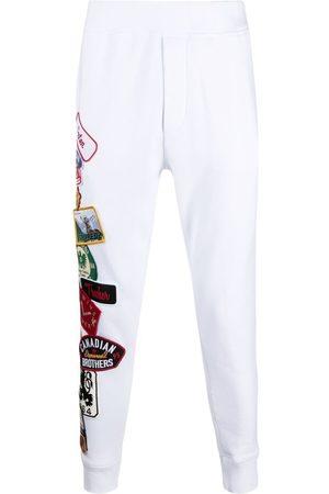 Dsquared2 Men Sweatpants - Appliqué track pants