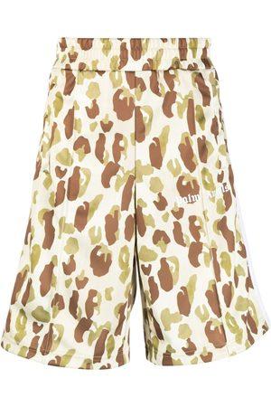 Palm Angels Desert Camo track shorts - Neutrals