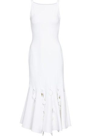 Alaïa Cut-out stretch-knit midi dress