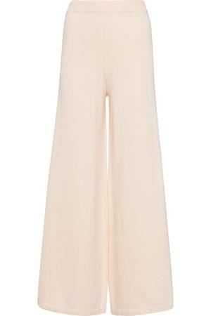 Staud Women Wide Leg Pants - Mitchell wide-leg cotton-blend pants