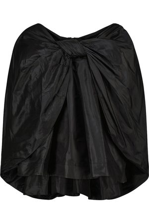 Simone Rocha Bow-embellished silk taffeta blouse
